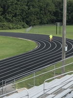 Pleasant Hope R-6 completes running track for track and field and community events.
