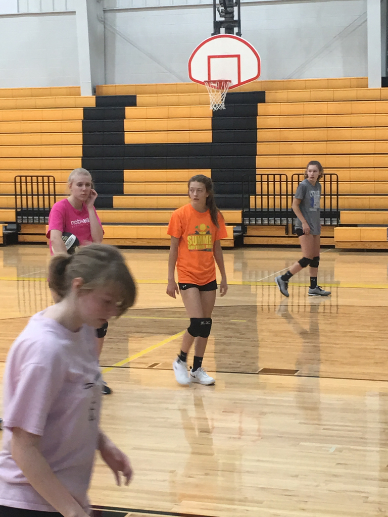 Volleyball practice is underway