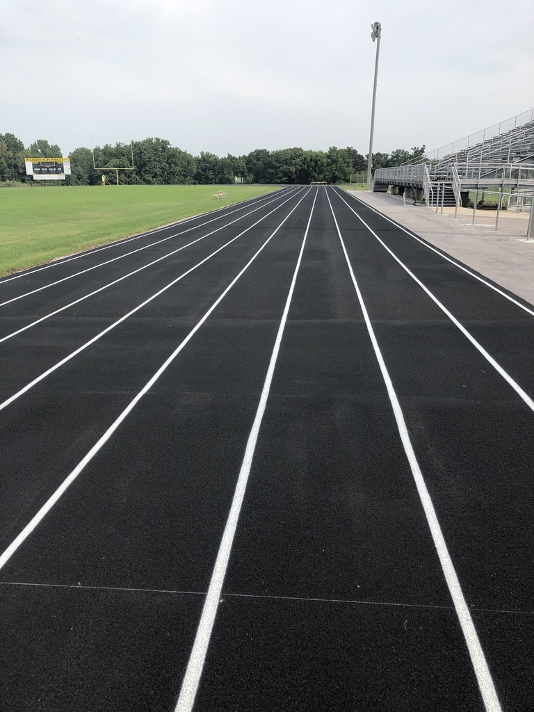 Striping of the track today