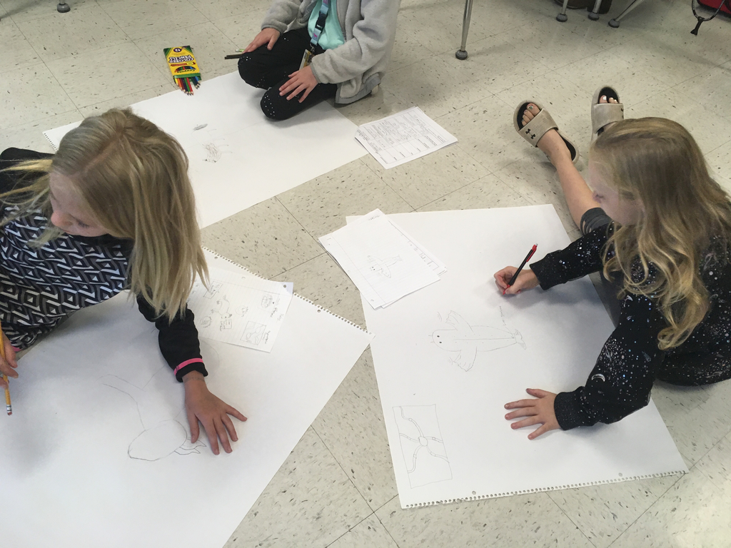 Students creating a new species