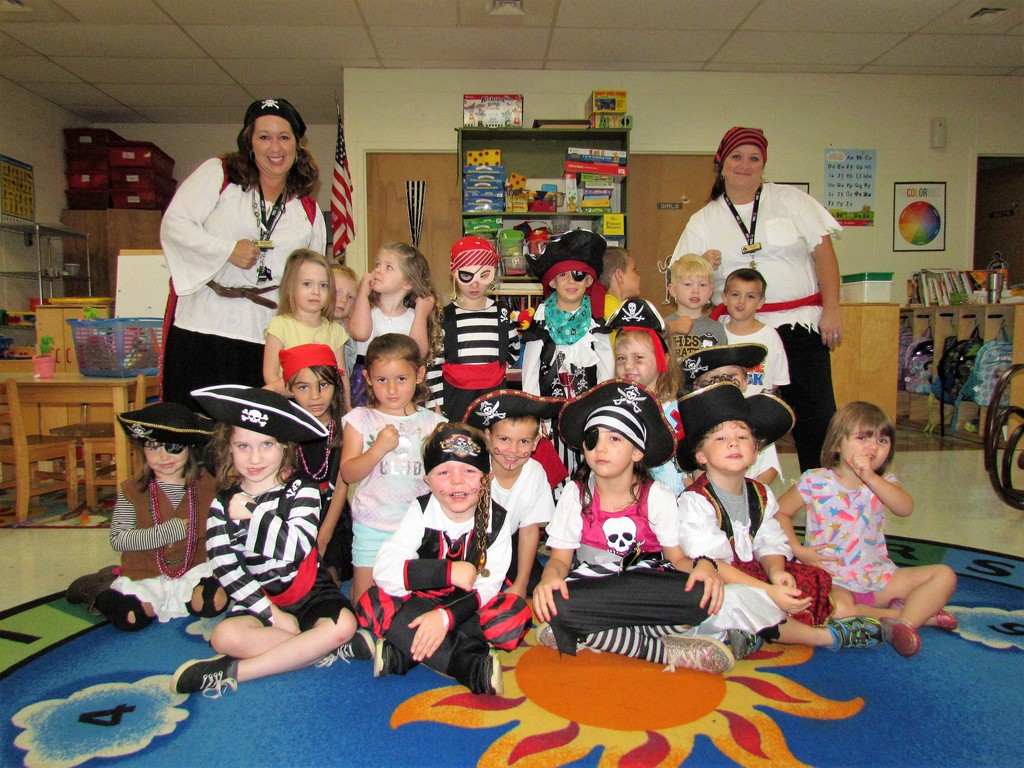 Peschool Am dress like pirate for Talk and Dress Like a Pirate Day.  ARGHHH!