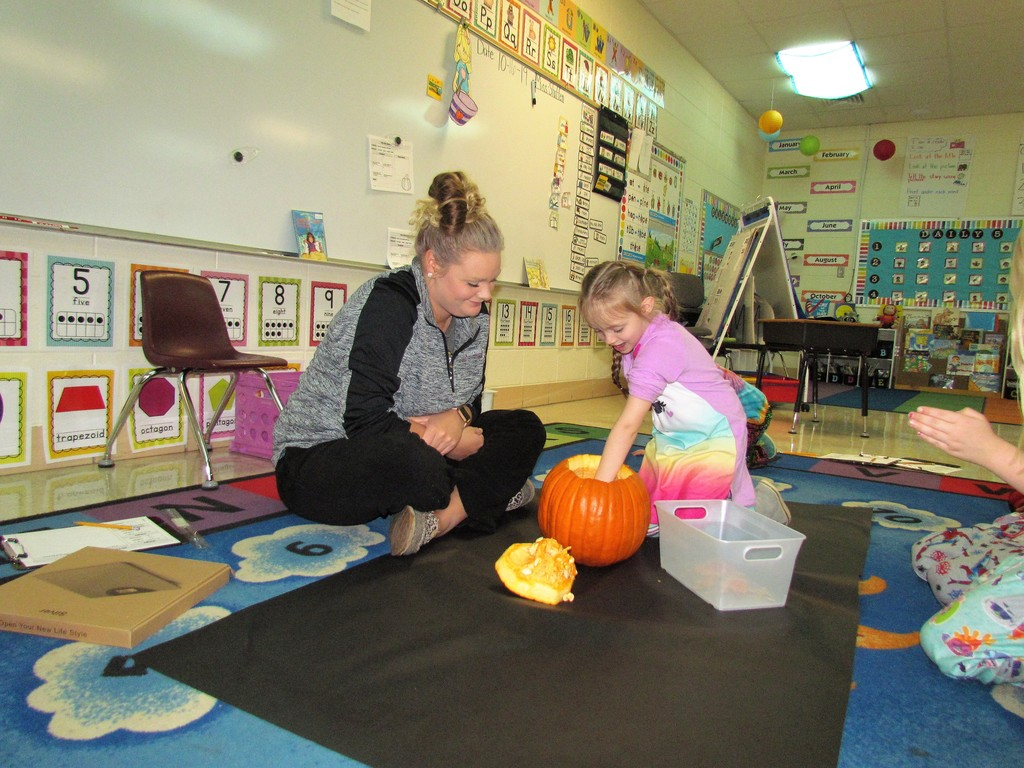 Pumpkin fun in Miss Staffen's class!