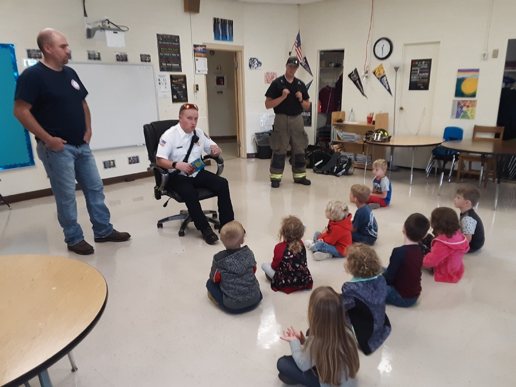 PM pre-k enjoy learning about fire safety.