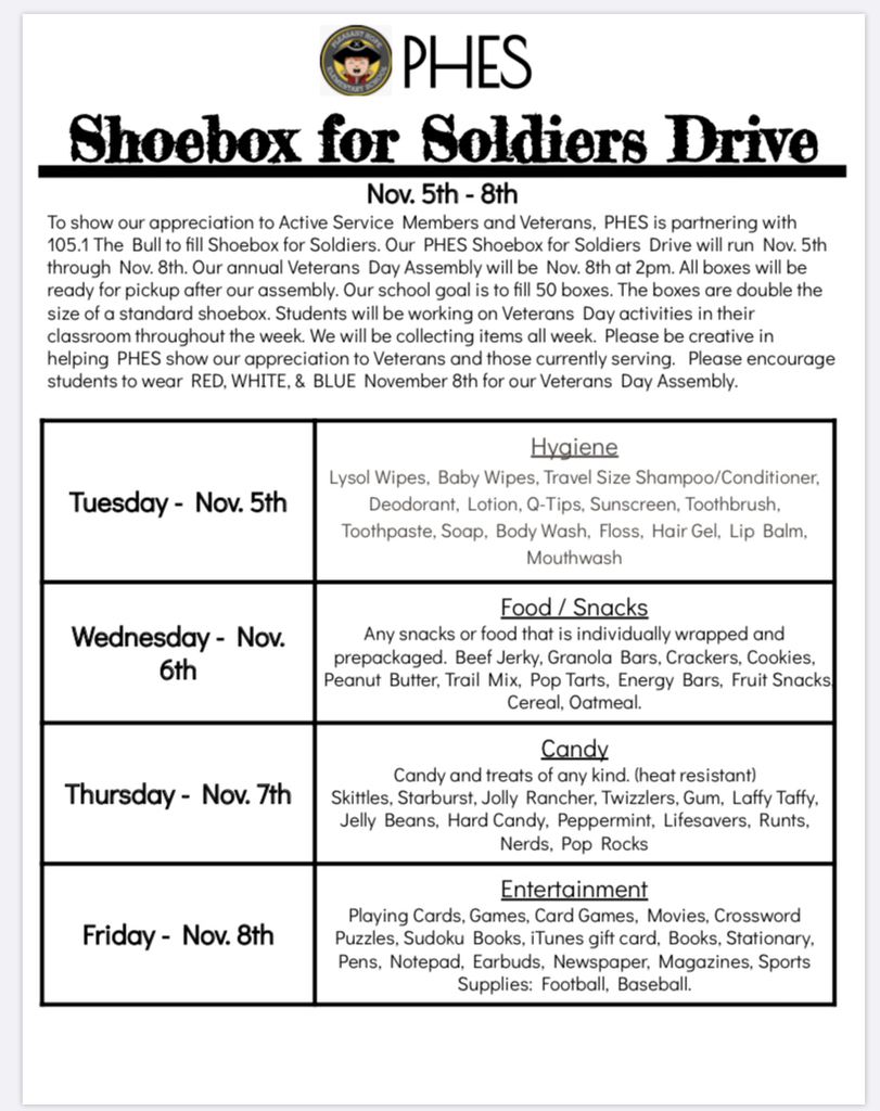 Shoebox for Soldiers