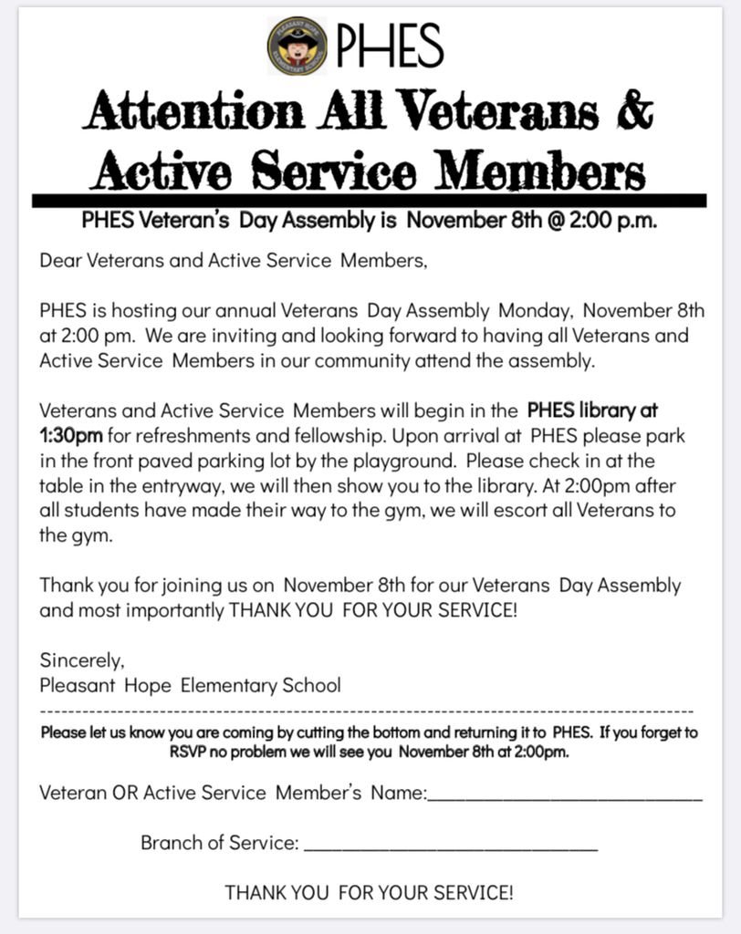 We welcome all veterans and active military members.
