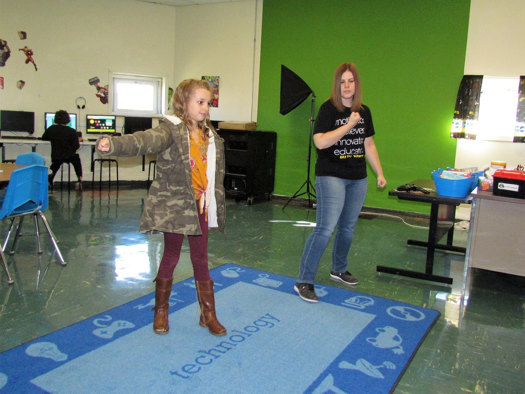 Mrs. Grantham's class enjoys Xbox Kinect bowling as a reward!