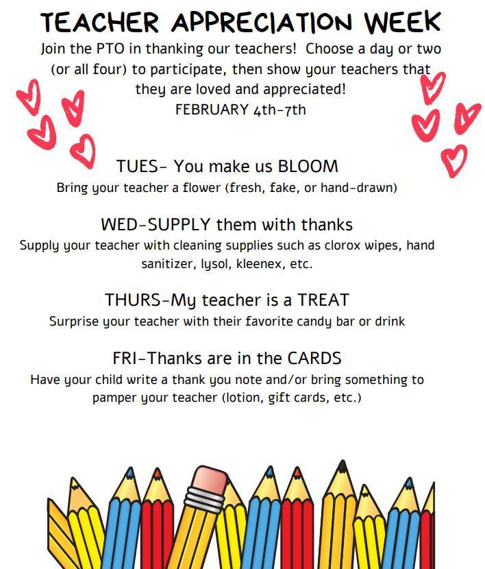 THIS WEEK! Please join in celebrating our PHES teachers.