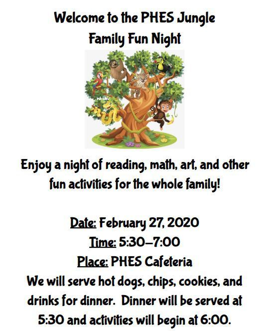 Family Fun Night Info.
